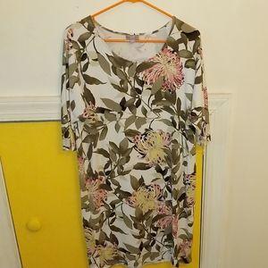J Jill floral print dress size S